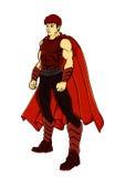 Czerwony super bohater Zdjęcia Royalty Free