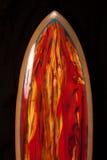 czerwony surfboard Zdjęcia Royalty Free