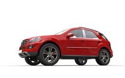 Czerwony SUV Obrazy Stock