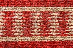 Czerwony syntetyczny dywan Zdjęcie Stock