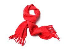 czerwony szalik Fotografia Stock
