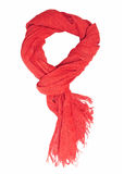 czerwony szalik Fotografia Royalty Free