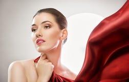czerwony szalik Zdjęcie Stock