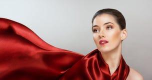 czerwony szalik Obrazy Royalty Free