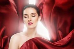 czerwony szalik Obraz Royalty Free