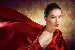 czerwony szalik Obrazy Stock