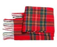 Czerwony szalik w klatce Obraz Stock