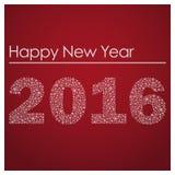 Czerwony szczęśliwy nowy rok 2016 od małych płatków śniegu eps10 Zdjęcia Stock