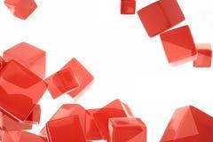 Czerwony sześcian Obraz Royalty Free