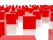 czerwony sześcianu Zdjęcia Stock