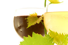 czerwony szkła białego wina Fotografia Royalty Free