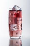 Czerwony szkło i lód obraz stock