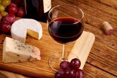 Czerwony szkło wino fotografia royalty free
