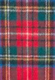 Czerwony szkocka krata materiał Obrazy Royalty Free