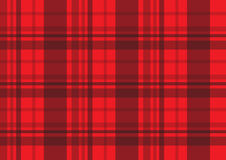 Czerwony szkocka krata tartanu tkaniny wektoru wzór Zdjęcia Royalty Free