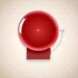 Czerwony szkolny dzwon Obrazy Stock