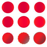 Czerwony sztandar na białym tle Obraz Stock