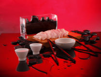 czerwony sztuka dla sztuki sashimi fotograf Obrazy Royalty Free