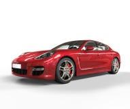 Czerwony Szybkiego samochodu piękna strzał Obrazy Royalty Free