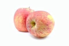 czerwony tła jabłkowy white Obrazy Stock