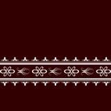 Czerwony tło z białą ornament strukturą ilustracja wektor