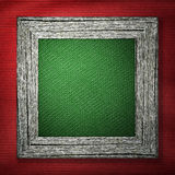 Czerwony tło z drewnianą ramą Zdjęcie Stock