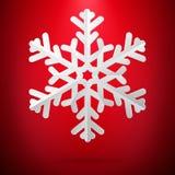 Czerwony tło z papierowym płatek śniegu 10 eps ilustracja wektor