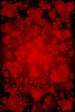 Czerwony tło z sercami ilustracja wektor