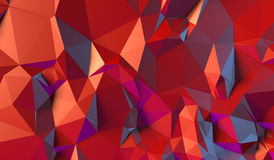 Czerwony tło trójboki ilustracja wektor