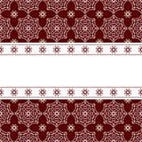 Czerwony tło z ornamentem Zdjęcie Stock