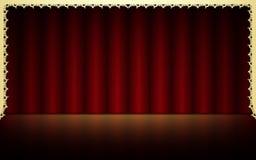 czerwony tła theatrical Fotografia Stock