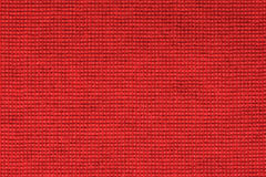 Czerwony tablecloth tekstury tło, zamyka up Zdjęcie Stock