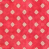 Czerwony Tajlandzki dywan z deseniowym tłem i teksturą Obraz Royalty Free