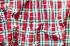 Czerwony tartan Fotografia Stock