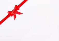 Czerwony tasiemkowy łęk zdjęcie royalty free