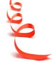 czerwony tasiemkowy atłas Obraz Royalty Free