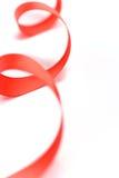 czerwony tasiemkowy atłas Zdjęcie Stock