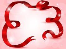 czerwony tasiemkowy błyszczący Obraz Royalty Free