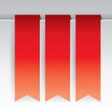 czerwony tasiemkowy tło Fotografia Stock