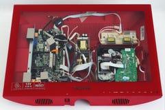 Czerwony Tauras TV w naprawie Fotografia Stock