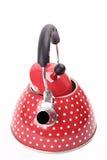 czerwony teapot Zdjęcia Stock