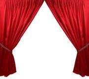 Czerwony teatr zasłony tło Obraz Stock