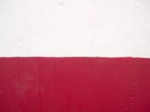 czerwony tekstury ściany biel Obraz Royalty Free