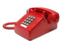 czerwony telefon Fotografia Stock