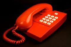 czerwony telefon Obraz Royalty Free