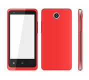 Czerwony telefon komórkowy Zdjęcia Royalty Free