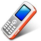 czerwony telefon przenośny Obrazy Royalty Free
