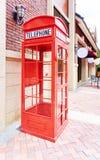 Czerwony telefoniczny budka Fotografia Royalty Free