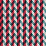 Czerwony tkankowy bezszwowy wzór z błękitnymi lampasami Obraz Stock