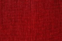 Czerwony tkankowy tło Zdjęcia Royalty Free
